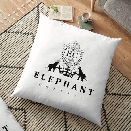 elephant chateau floor pillow